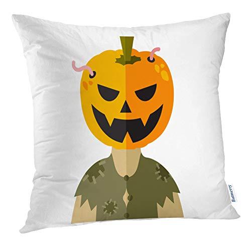 Batmerry Modern Pillow Cover 18x18 inch,Modern Scary Halloween Flat Avatar Mask Business Cartoon Celebration Throw Pillows Covers Sofa Cushion Cover Pillowcase -
