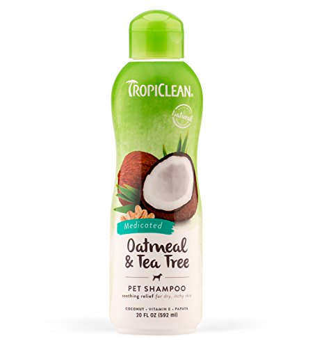 TropiClean Oatmeal and Tea Tree Pet Shampoo, 20oz