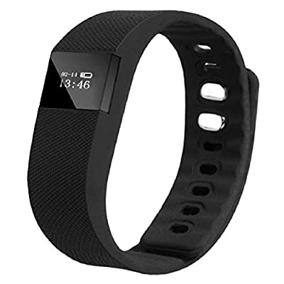 Eeoo New Smart Wrist Band Sleep Sports Fitness Activity Tracker Pedometer Bracelet Watch BLACK
