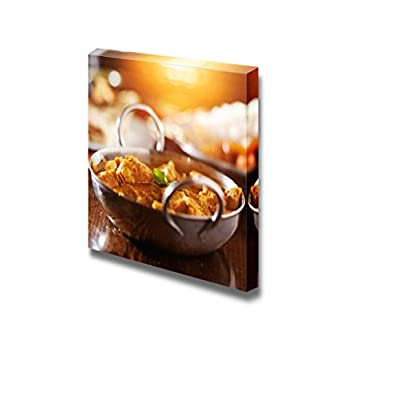 Canvas Prints Wall Art - Indian Butter Chicken Curry with Basmati Rice - 16