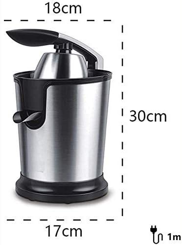 LJJ Exprimidor Multifuncional Presionado A Mano, Exprimidor Eléctrico, 160W De Acero Inoxidable De Suave Mango De Agarre Y El Cono Tapa, Apto para El Hogar/Cocina
