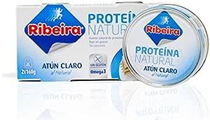 Ribeira atún claro proteína natural - 2 latas de 160gr ...