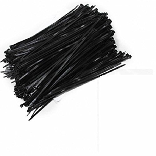 11'' Made In Usa Industrial Black Wire Cable Zip Uv Nylon Tie Wraps 500 Pack