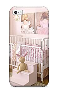 Rowena Aguinaldo Keller's Shop 5294373K24367919 Iphone 5c Case Bumper Tpu Skin Cover For Pink Cottage Style Girls Nursery With Ballerina Art And Chandelier Accessories