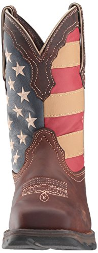 Women's brown Boot Flag flag Union Western Durango union Brown Rebel Lady 6OdUq1