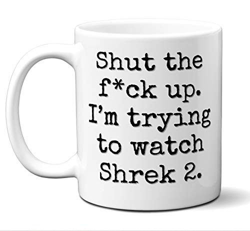 (Shrek 2 Gift Mug. Funny Parody Movie Lover Fan