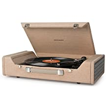 Crosley CR6232A-BR Nomad Portable Record USB Turntable with Software for Ripping & Editing Audio, Brown