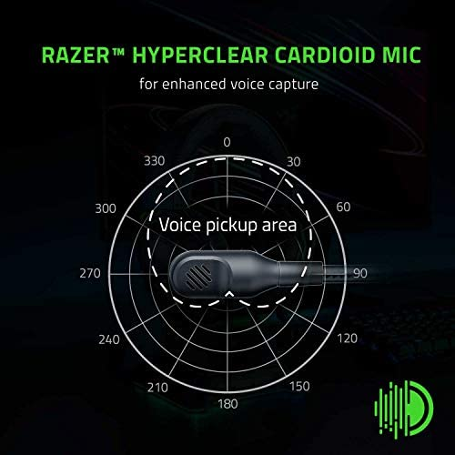 Razer BlackShark V2 X Gaming Headset: 7.1 Surround Sound Capable – 50mm Drivers – Memory Foam Cushion – for PC, PS4, Nintendo Switch – 3.5mm Headphone Jack – Classic Black 41yudgd 2B99L