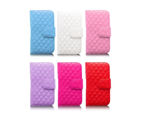 Samsung Galaxy S4 | iCues acolchada rosa bolsa de aleta | [Protector de pantalla, incluyendo] cuero - libro con bisagras de la manga bolsillo del teléfono celular bolsa protectora para abrir la caja t Fucsia