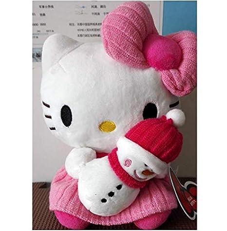 WFORGETT 20Cm Hello Kitty Holding Snowman Sanrio Original ...