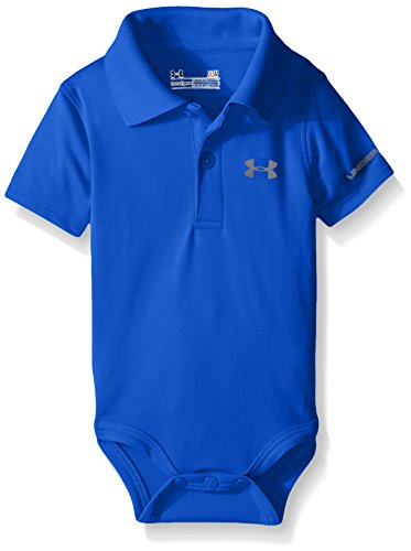 Under Armour Baby-Boys' Polo Bodysuit,Ultra Blue,0-3 Months