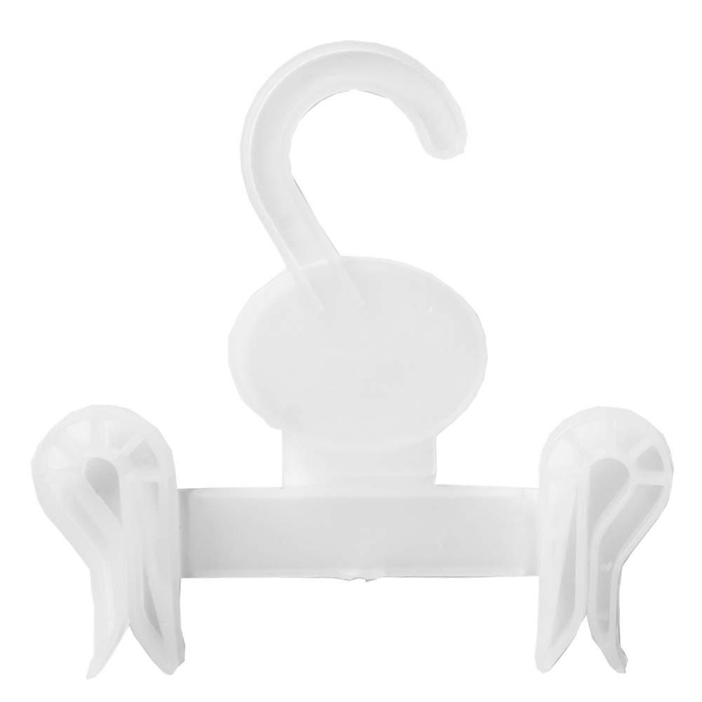 JB Label Retail Display Plastic Hook Baby Sock Gloves PP Display Hook for Lightweight Garments Clip Type 10 pcs Set