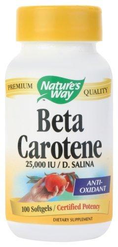 Nature's Way, Beta Carotene, 25,000 IU / D. Salina, 100 Softgels