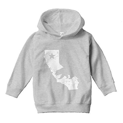 - Tcombo Cali State Map - California Bear Toddler/Youth Fleece Hoodie (Light Gray, 4T (Toddler))