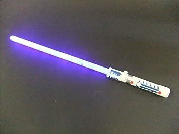 Laser Light Sword/saber LED lights & sounds motion sensor battle clash  sounds (Blue)