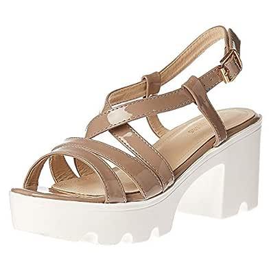 ؎و اكسؚرس Heels Sandals for Women - Nude