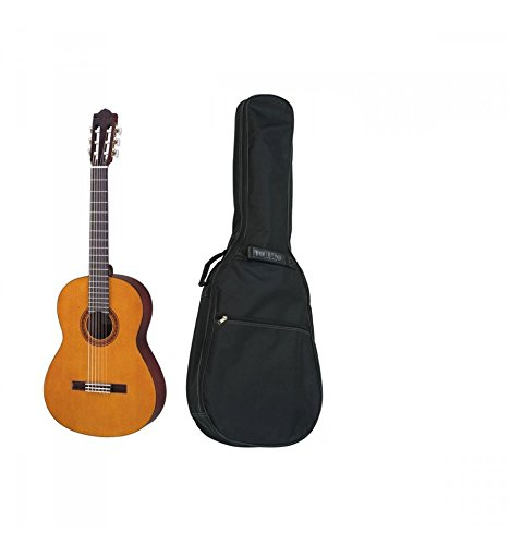 3//4 Size Natural /& Stagg 3//4 Size Padded Classical Guitar Bag Yamaha CS40II Classical Guitar for Learners Traditional Western Body