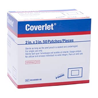 """Coverlet 2""""x3"""" Fabric Patches, Box of 50"""