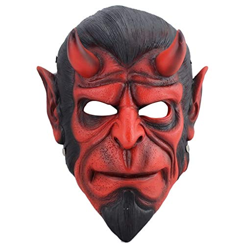 Masks Halloween Christmas FRP Protective Hell Baron Clockwork cos Men's Dress Resin Dress Up & Pretend Play (Color : Red, Size : 2230CM/912inch) -