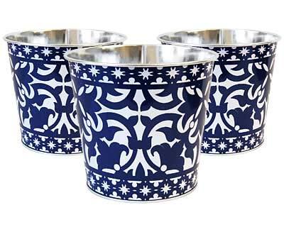 Esschert Design Portuguese Style Flower Pots, Pack of 3