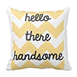 Generic Custom Square Hello There Handsome Pillow Cover Cotton Pillowcase Cushion Cover 16 X 16 Set