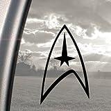 Star Trek Noir en camion Bumper Sticker en vinyle pour fenêtre
