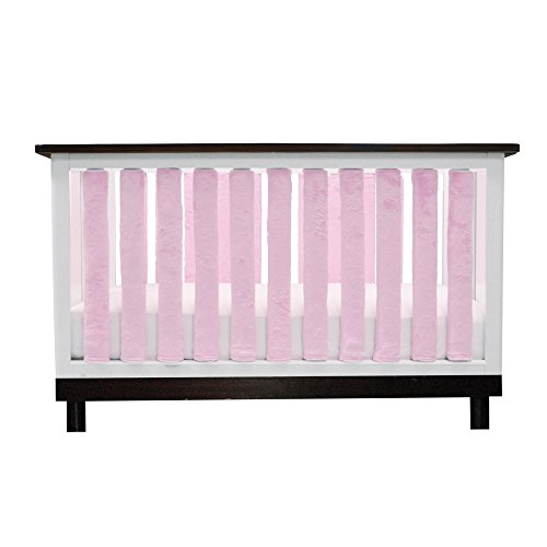Pure Safety Vertical Crib Liners in Luxurious Pink Minky 38 Pack]()