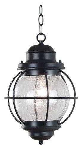 Kenroy Home 90965BL Hatteras Hanging Lantern, Black