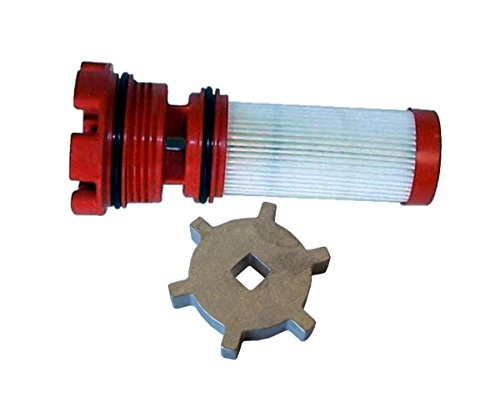 OEM Mercury Marine Outboard Verado Optimax Red Fuel Filter 35-8M0060041 & Tool (Engines Mercury Outboard Marine)