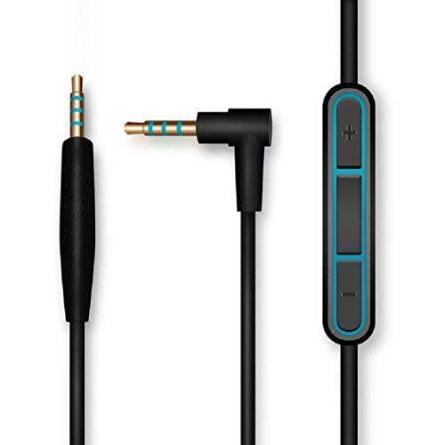 Aleicx Bose QuietComfort QC25 SoundTrue Headphones Replacement Audio Cable Cord for Bose QC25 Quiet Comfort Headphone with Mic Volume Control for iOS Android System (Black with Mic)
