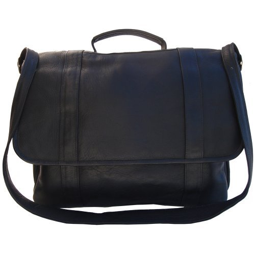 Piel Leather Traditional Flap Portfolio Black One Size [並行輸入品]   B079KLSVQL