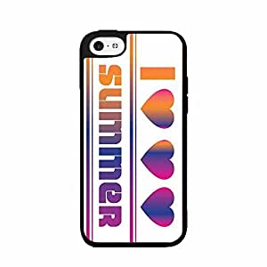 I Love Summer 3 Hearts SILICONE Phone Case Back Cover iPhone 5c