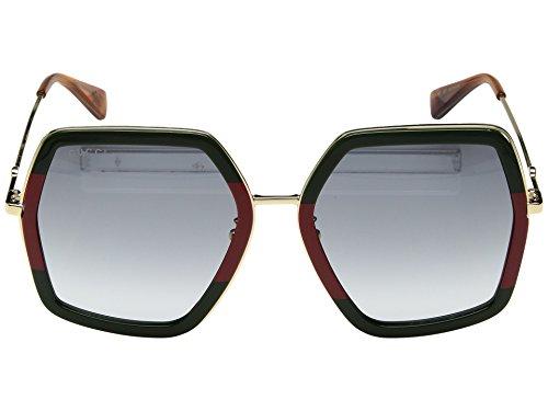 Sunglasses Gucci GG 0106 S- 007 GREEN / GREY GOLD