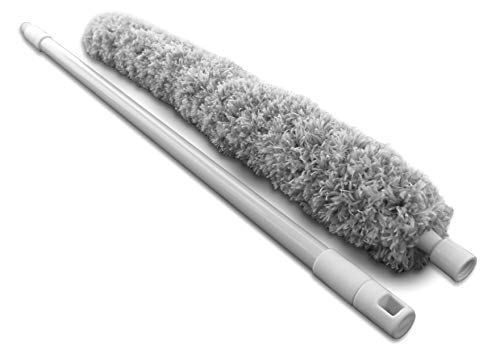 Microfiber Duster with Telescoping Extendable Pole Handle Up to 70 Inch, Flexible, Bendable, Washable, for Cleaning Ceilings, Ceiling Fans, Cobwebs (Duster Long Reach)