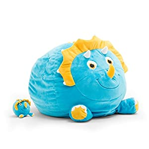 Big Joe Bagosaur Sarah The Triceratops with Lil Buddy Bean Bag, Multicolor