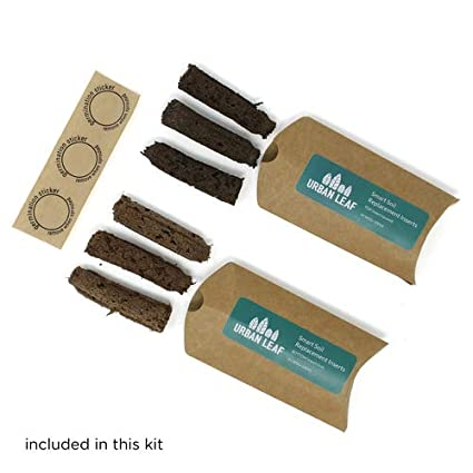 Urban Leaf Smart Soil Replacement Sponges Kit   For Window Sill Herb Garden  Kits   Includes