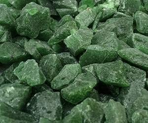 STONED/® 1 Kilo Decorative GREEN LARGE Glass Chippings Memorial Topping Pebbles -Stones Garden