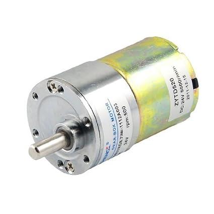 Amazon.com: eDealMax 500 RPM de velocidad de Salida DE 36 mm de diámetro 24V 0.33A DC Motorreductor: Automotive