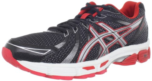 ASICS Men's GEL-Exalt Running Shoe,Black/Silver/Red,10 M US
