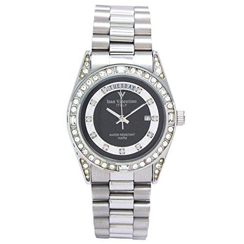 Izax Valentino watch analog display date display day of the week display black IVG-1000-6 - Valentino Watch Mens