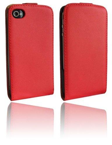 Klapptasche Schutztasche für das Iphone 4 / 4S in Rot Tasche Hülle @ Energmix