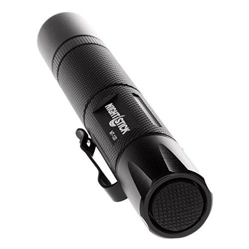 Black 5.6-Inch Nightstick MT-120 Mini-TAC Metal LED Flashlight-2 AA