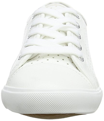 10 White Foot Meshy Look New Zapatillas Blanco Wide Mujer px81Ta