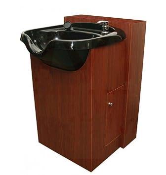 amazon com callaway shampoo bowl cabinet in pearwood beauty rh amazon com shampoo sink and cabinet olla shampoo bowl and cabinet