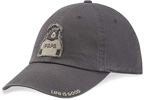 Life is Good Unisex Tattered Chill Cap Baseball Hat, Slate Gray, One Size