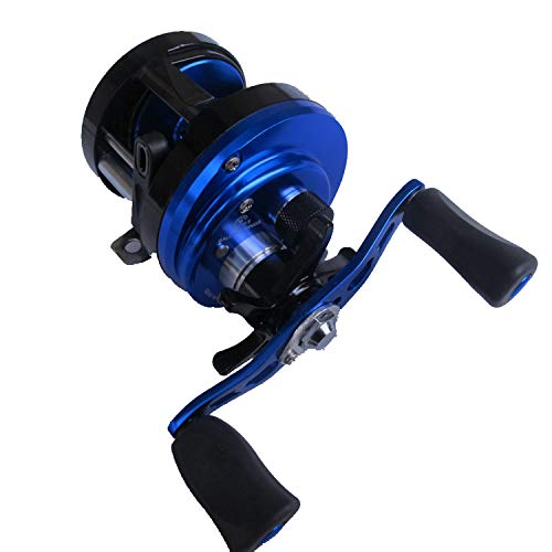 8bb Brake Magnetic Force Fishing Boat Reel Cast Drum Wheel Lure Reel Baitcasting Fish Reel Left Right Handle Salt - Brake Drum Cast
