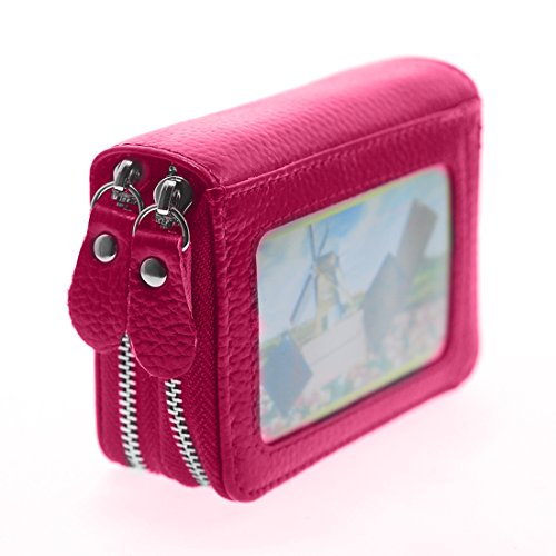 Womens Wallet Small double-zipper Wallet Mini Wallet Card Holder coin purse by QinFeng (Image #1)