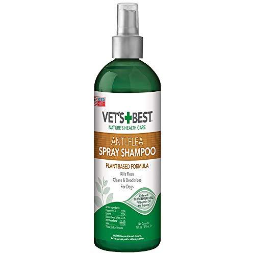Vet's Best Anti-Flea Spray Dog Shampoo. 16 oz, USA Made