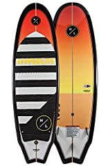 KEY FEATURES Plus sized design offers improved float for easier starts and more stable control Single Concave Base Contour offers stability and smooth transitions Dont get stuck on shore hop onto the Hyperlite 5 9 Landlock Wakesurf and have m...