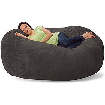 Amazon Com Comfy Sacks 6 Ft Lounger Memory Foam Bean Bag